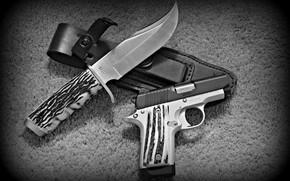 Картинка пистолет, оружие, Нож