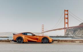Картинка мост, спорткар, Novitec, Ferrari 812, 2019 Ferrari 812 N-Largo
