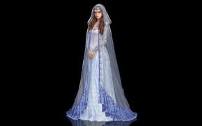 Картинка Девушка, Минимализм, Стиль, Girl, Платье, Фон, Beautiful, Style, Красивая, Princess, Background, Принцесса, Minimalism, Dress, by …