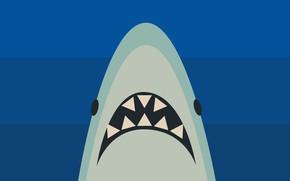 Картинка minimalism, shark, artist, digital art, artwork, simple background, Ahoy
