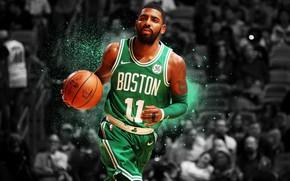 Обои Basketball, Irving, Celtics, Boston, Kyrie, NBA