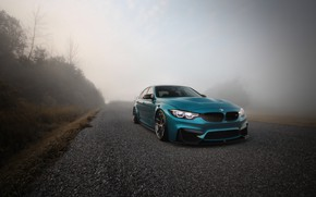 Обои BMW, Blue, Fog, F80, Sight, LED