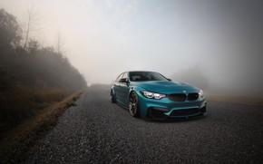 Картинка BMW, Blue, Fog, F80, Sight, LED