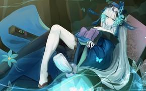 Картинка девушка, аниме, арт, Onmyouji