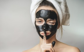 Картинка woman, look, mask, finger, beauty treatment