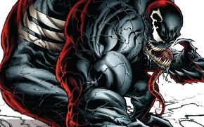 Картинка язык, монстр, комиксы, комикс, мускулы, Веном, Venom