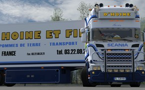 Картинка тягач, Scania, Euro truck simulator 2