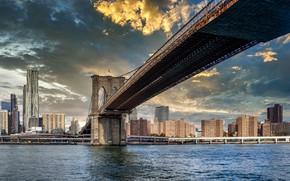 Картинка Manhattan, NYC, Brooklyn bridge