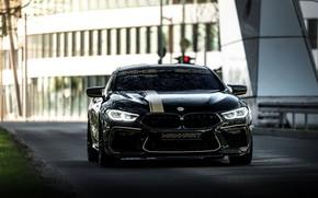 Картинка дорога, чёрный, улица, тюнинг, купе, BMW, Manhart, 2020, BMW M8, 4.4 л., двухдверное, V8 Biturbo, …