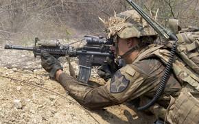 Картинка оружие, армия, солдат, U.S. Army