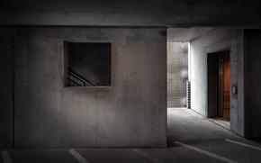 Картинка фон, лифт, подземная парковка