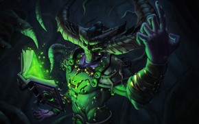Картинка Книга, Dark, Магия, World of Warcraft, WOW, Fantasy, Blizzard, Арт, Art, Фантастика, Shadow, WarCraft, Illustration, …