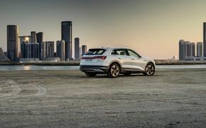 Картинка белый, Audi, дома, стоянка, E-Tron, 2019