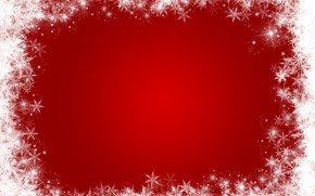 Картинка зима, снег, снежинки, красный, фон, red, Christmas, winter, background, snow, snowflakes, frame