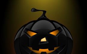 Картинка black, macro, pumpkin, halloweeen