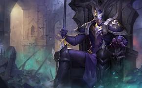 Картинка воин, шлем, мужчина, Arena of Valor