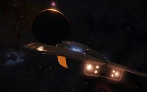 Картинка космос, Планета, Космический Корабль, Elite: Dangerous