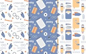 Картинка фон, текстура, школа, patterns, school, collection