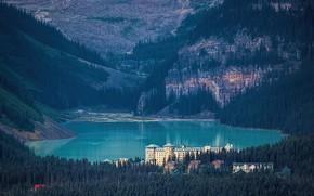 Картинка лес, замок, Канада