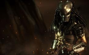 Картинка хищник, маска, пришелец, дреды, Predator, DLC, mask, NetherRealm Studios, Mortal Kombat X, мортал комбат х, …