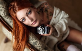 Картинка девушка, портрет, камера, Dani