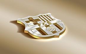 Картинка Logo, Golden, Football, Soccer, FC Barcelona, Barca, Emblem, Spanish Club