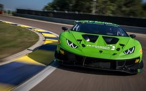 Картинка Lamborghini, turbo, Evo, GT3, гоночный трек, Huracan, Lamborghini Huracan GT3 EVO