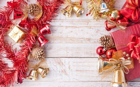 Картинка украшения, Новый Год, Рождество, открытка, шаблон