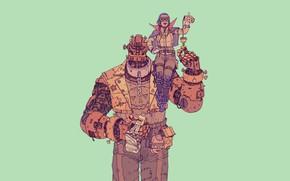 Картинка Минимализм, Робот, Фон, Fantasy, Art, Киборг, Illustration, Гигант, Cyberpunk, by Josan Gonzalez, Josan Gonzalez, Nightmare …