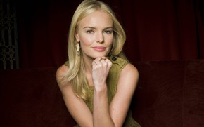 Картинка взгляд, поза, волосы, блондинка, hair, look, blonde, pose, Kate Bosworth, Кейт Босуорт, pose sitting, поза …