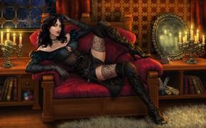 Картинка девушка, лежит, The Witcher 3 Wild Hunt