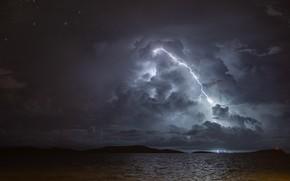 Картинка тучи, шторм, молния