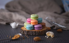 Картинка печенье, крем, macaron, макаруны, миндальное