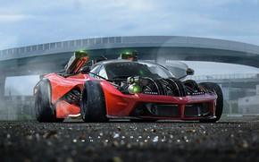 Обои машина, игра, гонки, Khyzyl Saleem, Ghost Games, Live To Offend - La Ferrari