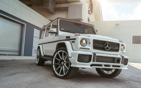 Картинка Mercedes, AMG, G63, White, Brick, W463