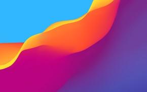 Картинка волны, цвета, линии, background