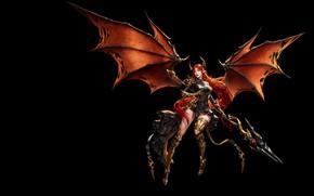 Картинка игра, крылья, фэнтези, арт, маг, посох, уровень, League of Angels, лвл, дизайн костюма, jungmin jin …