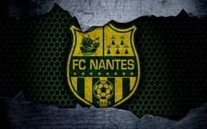 Картинка wallpaper, sport, logo, football, Nantes
