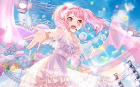Картинка девочка, певица, милашка, розовый цвет, BanG Dream!