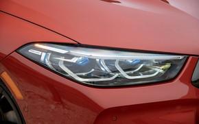Картинка купе, фара, капот, BMW, 2018, 8-Series, 2019, тёмно-оранжевый, M850i xDrive, 8er, G15