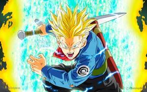 Картинка взгляд, сила, парень, Dragon Ball