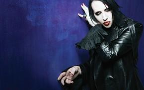 Картинка макияж, мужчина, певец, Marilyn Manson