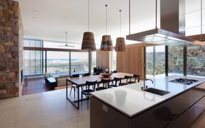 Картинка интерьер, кухня, гостиная, столовая, South-Western Australia Residence
