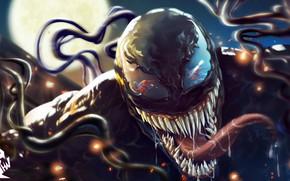 Картинка Язык, Зубы, Art, Comics, MARVEL, Concept Art, Веном, Venom, Spider Man, Symbiote, MARVEL Comics, Comic ...