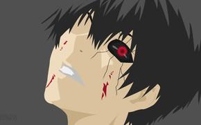 Картинка взгляд, парень, Tokyo Ghoul, Токийский гуль
