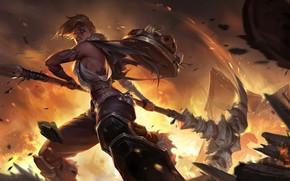 Картинка девушка, оружие, Legends of Runeterra
