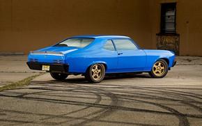 Картинка Blue, Coupe, Pontiac, Muscle car, Ventura