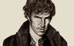 Картинка арт, Бенедикт Камбербэтч, Sherlock, Sherlock BBC, Sherlock Holmes, by bilou020285