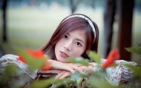 Картинка девушка, азиатка, милашка, личико