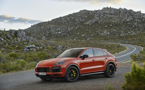 Картинка машина, природа, Porsche, Coupe, Cayenne, кроссовер